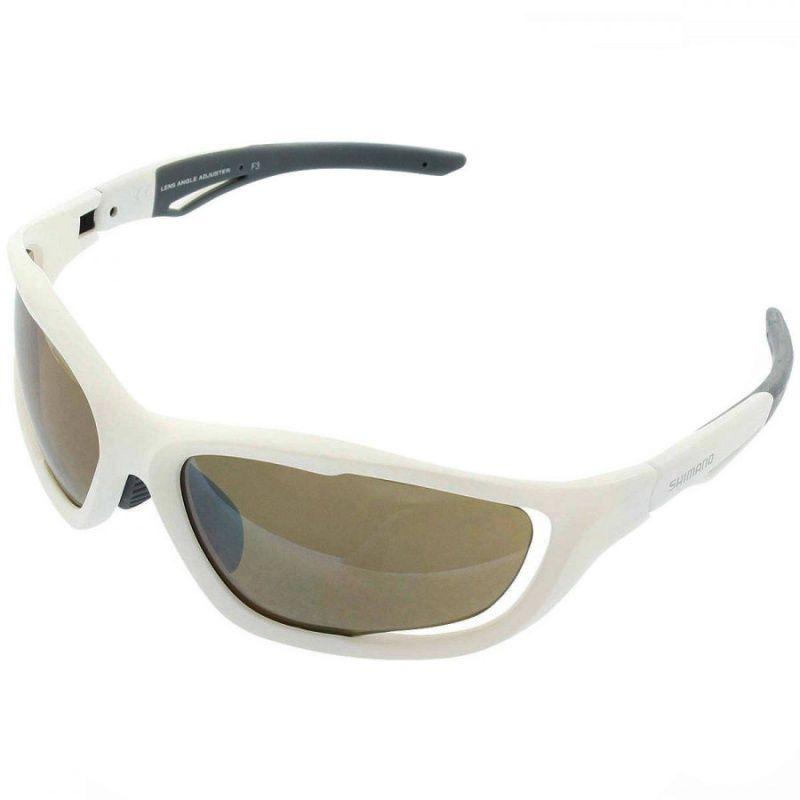 0b4967cbc Oculos SHIMANO CE-s60x - branco fosco c/lente marr